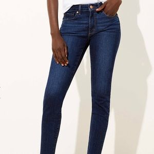 LOFT Modern Skinny dark wash jeans in 28/6
